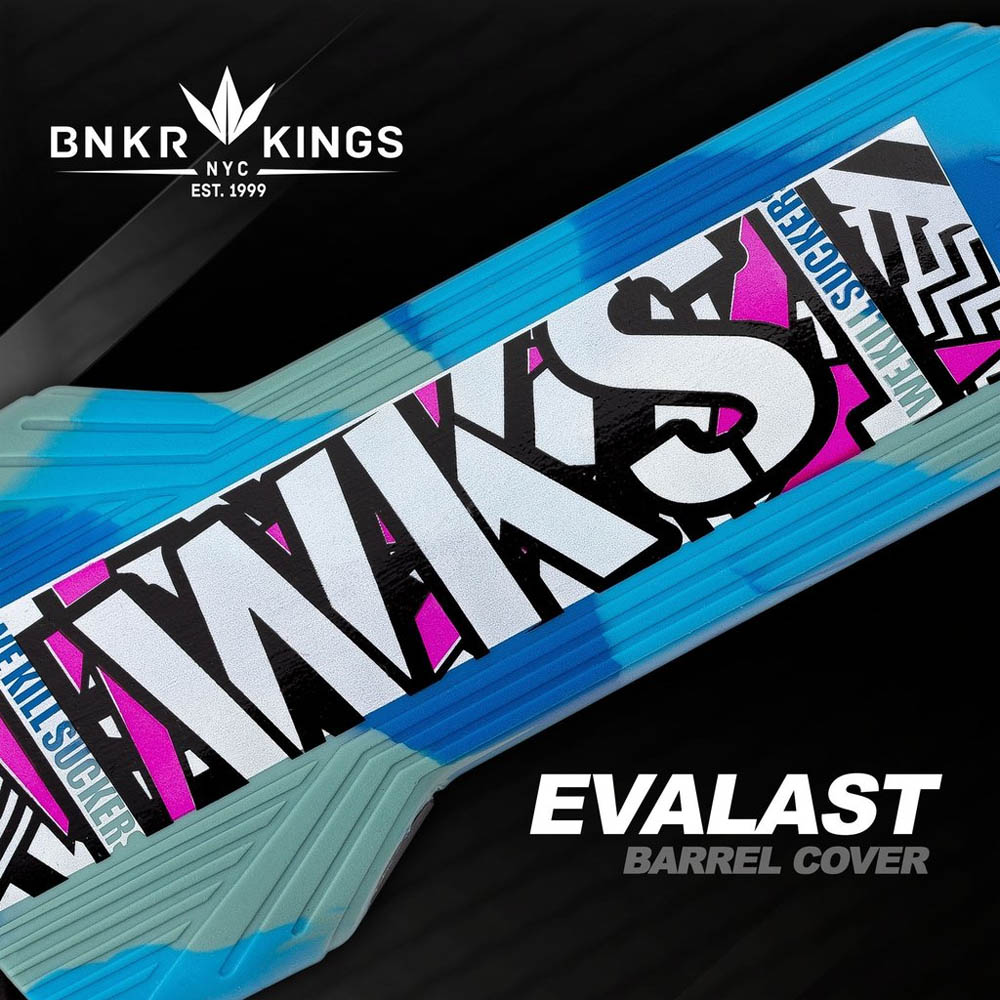 Bunker Kings - Evalast Barrel Cover - Shred - Cyan