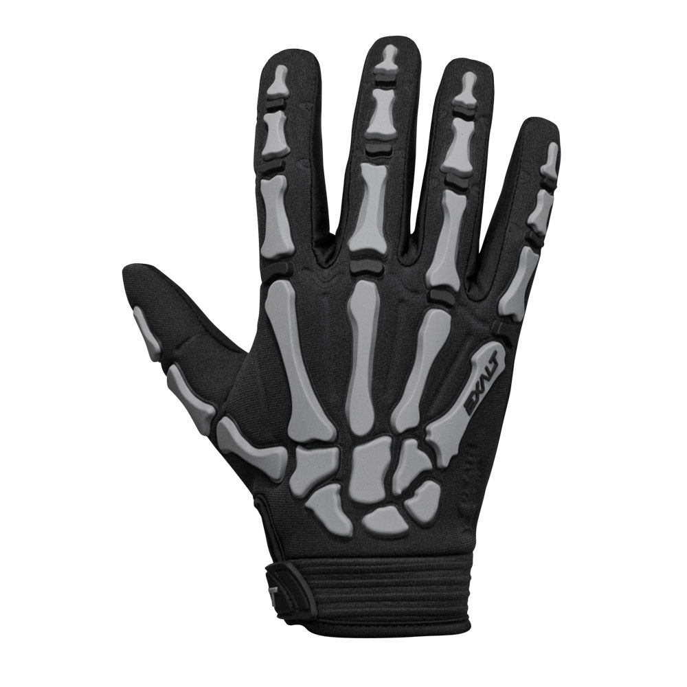 Exalt Full Finger Death Grip Gloves - Grey
