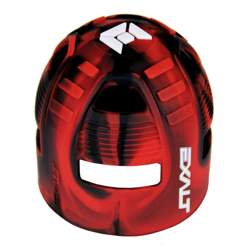 Exalt Tank Grip -  Black/Red Swirl