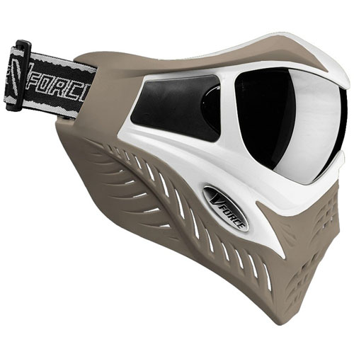 Vforce Grill SE Goggle: White on Taupe